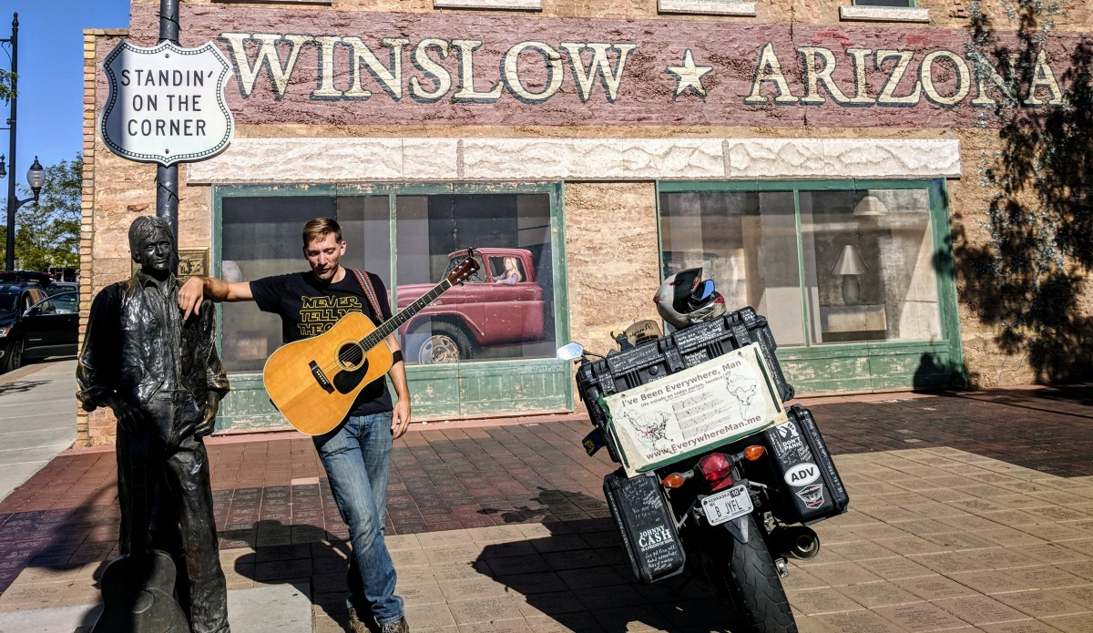 Singin' On A Corner In Winslow Arizona
